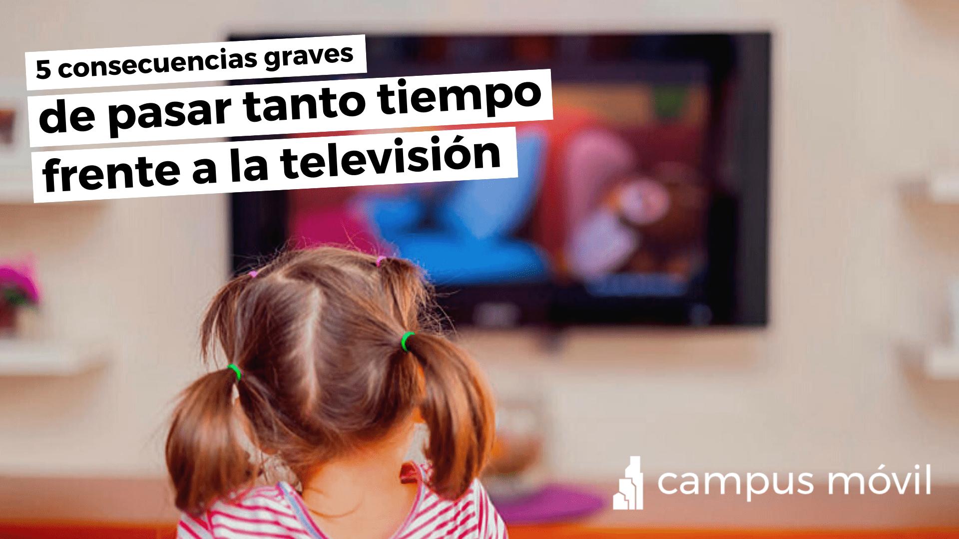 ¿Pasas mucho tiempo frente al televisor? Conoce algunas consecuencias